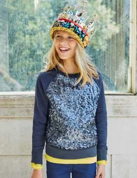 Boden Sparkly Raglan Sweatshirt