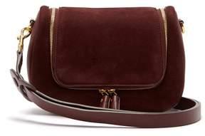 Anya Hindmarch Vere Small Suede Shoulder Bag - Womens - Burgundy