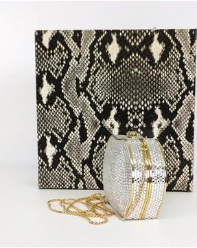 Judith Leiber Crystal Gold Embellished Clutch