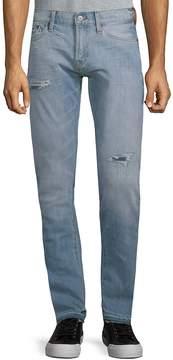 Jean Shop Men's Jim Distressed Cotton Jeans