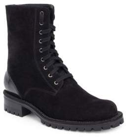 Rene Caovilla Leather & Suede Combat Boots