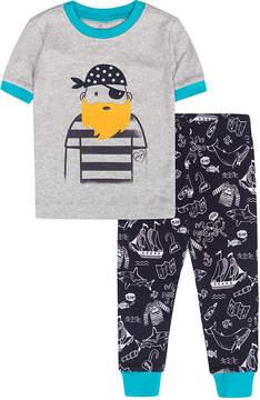 Petit Lem Light Heather Pirate Pajama Set - Toddler & Boys