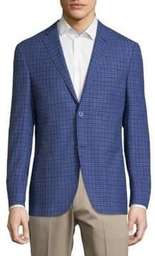 Corneliani Checkered Notch Jacket