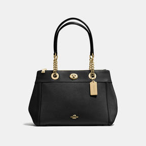 COACH Coach Turnlock Edie Carryall - LIGHT GOLD/BLACK - STYLE