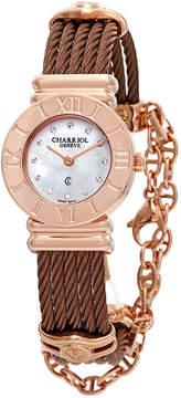 Charriol St Tropez Mother of Pearl Diamond Dial Ladies Watch
