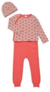 Petit Lem Baby's Three-Piece Tee, Pants & Beanie Set