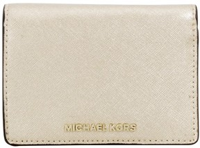 Michael Kors Jet Set Travel Leather Pale Gold Ladies Wallet 32F6MTVF6M740 - ONE COLOR - STYLE
