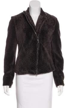 Eleventy Zip-Up Shearling Jacket