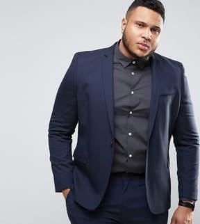 Asos PLUS Skinny Suit Jacket In Navy