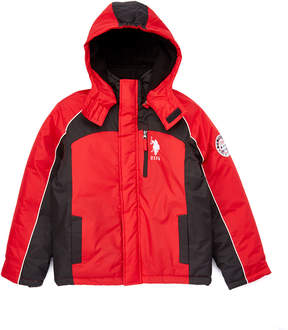 U.S. Polo Assn. Winning Red Hooded Jacket - Toddler & Boys