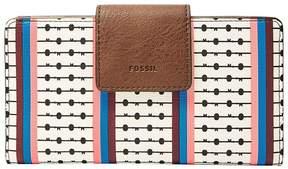 Fossil Emma RFID Striped Tab Wallet