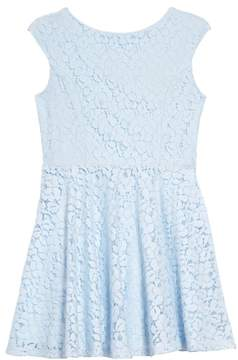 Un Deux Trois Floral Lace Skater Dress