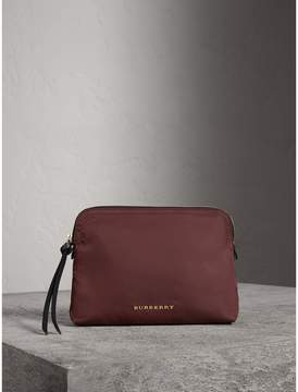 Burberry Large Zip-top Technical Nylon Pouch - BURGUNDY RED - STYLE