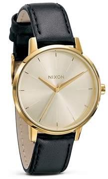 Nixon The Kensington Leather Watch, 36 1/2mm