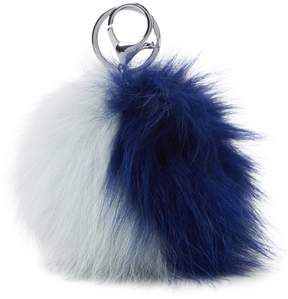Adrienne Landau Fox Fur Keychain
