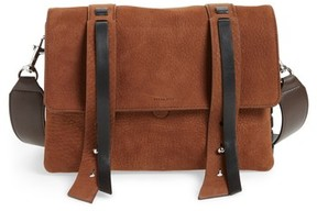 AllSaints Fin Leather Box Bag - Brown