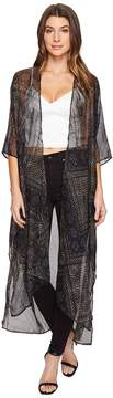 BCBGeneration Noir Lace Duster Women's Clothing