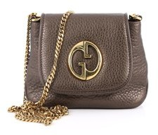Gucci Pre-owned: 1973 Crossbody Bag Leather Small. - BROWN - STYLE