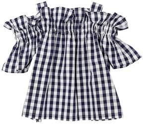 Il Gufo Gingham Print Cotton Poplin Shirt