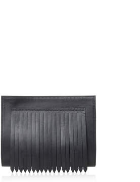 Joanna Maxham Black Flapper Clutch Mini