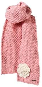 Barts Pink Knitted Rose Scarf