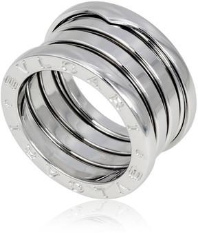 Bvlgari 18K White Gold 4 Band Ring- Size 49