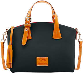 Dooney & Bourke Patterson Leather Trina Satchel - BLACK - STYLE
