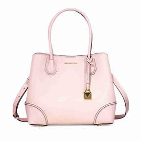 Michael Kors Mercer Medium Leather Satchel - Soft Pink - PINKS - STYLE