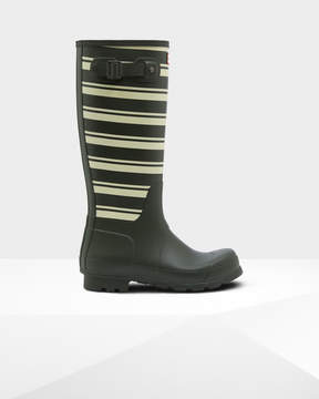 Hunter Men's Original Garden Stripe Tall Rain Boots