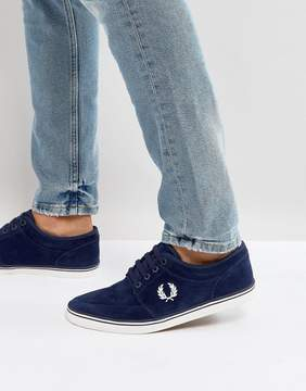 Fred Perry Stratford Suede Sneakers in Blue