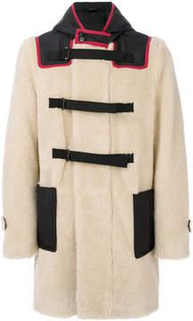 No.21 hooded shearling coat