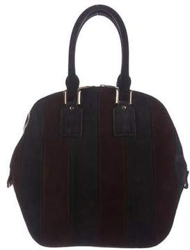 Burberry Suede Orchard Bag - BLUE - STYLE