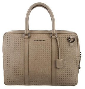 Burberry Perforated Leather Bag - BROWN - STYLE