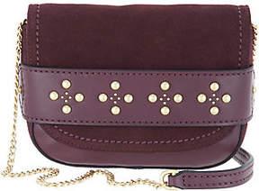 Vera Bradley Leather & Suede Carson Mini Saddle Bag