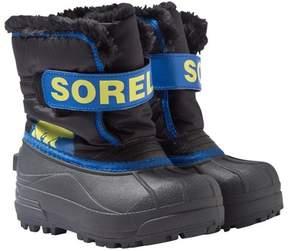 Sorel Childrens Snow CommanderTM Black, Super Blue