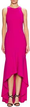 Theia Women's Cut Out Back High Low Gown