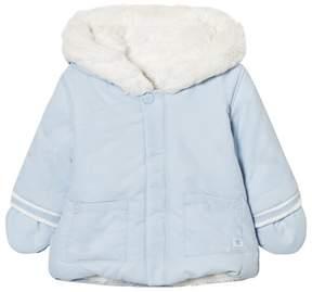 Absorba Pale Blue Fleece Lined Hooded Jacket