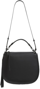 AllSaints Mori Leather Hobo - Black