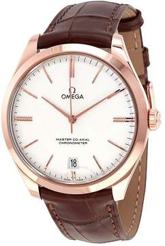 Omega De Ville Tresor Silver Dial 18k Sedna Rose Gold Men's Watch
