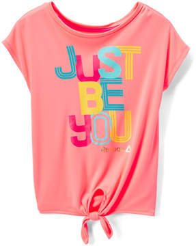 Reebok Hot Coral 'Just Be You' Tee - Toddler & Girls