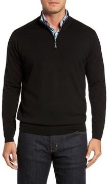Peter Millar Men's Crown Soft Merino Blend Quarter Zip Sweater