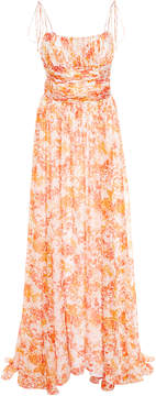 Caroline Constas Long Printed Sleeveless Dress