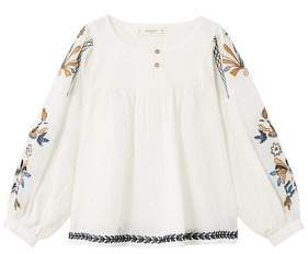 MANGO Floral embroidery blouse