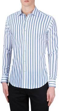 Bugatchi Men's Classic Fit Stripe Sport Shirt