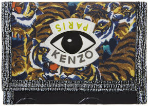 Kenzo Multicolor Flying Tiger Velcro Foldover Wallet