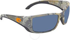Costa del Mar Blackfin Gray Polarized Rectangular Sunglasses BL 69 OGP