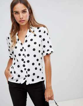 New Look Spot Print Shirt