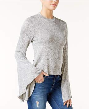 Bar III Bell-Sleeve Melange Top, Created for Macy's