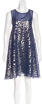 Erin Fetherston ERIN by Silk Metallic Dress