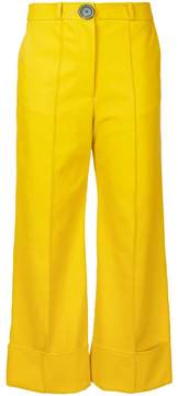 Awake cropped flared trousers